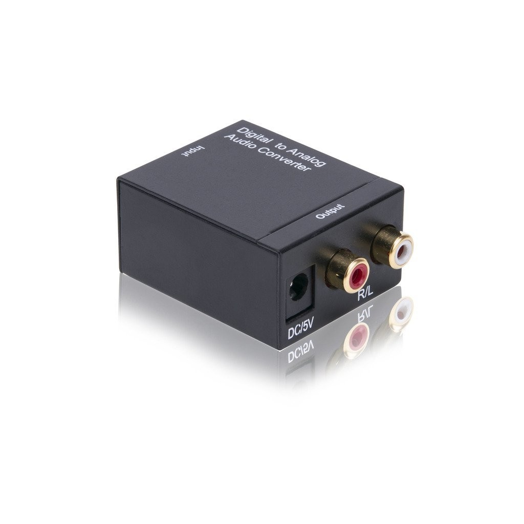 SPDIF Digital Coaxial or Toslink Optical to Stereo RCA Audio Converter (DAC02)