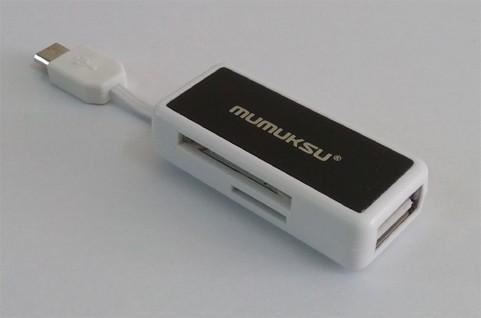 Mumuksu Micro USB OTG Adaptor with Card Reader (MO-604)