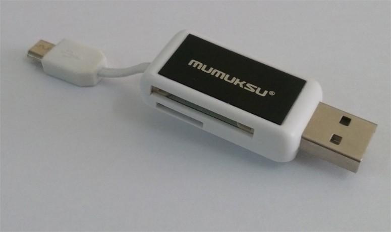 Mumuksu USB PC & OTG Dual Card Reader (MPA-606)