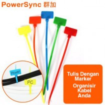Powersync Cable Tie and Sign (ACLTTGC17M)